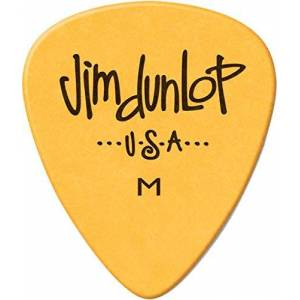 Dunlop 479RM Poly Picks, Yellow, Medium, 72/Bag