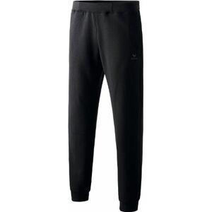 Erima Kid's Casual Basics Sweatpants with Small Waistband, Black, Size 128