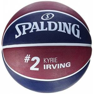 Spalding Unisex's NBA Player Kyrie Irving Basketball, Marine/Bordeaux, Size 7.0