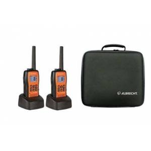 ALBRECHT Tectalk Float - Waterproof PMR Walkie-Talkies (Set of 2) Including Charger, In Case