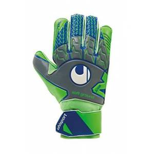 uhlsport Men's Tensiongreen Soft Pro Goalkeeper Gloves, Dark Grey/Fluo Green/Marin, Size 10