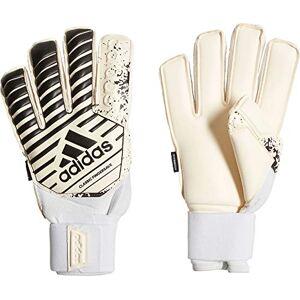 adidas Adult Classic Finger Save Goalkeeper Gloves, Unisex, CW5614, white/black, 9 (EU)