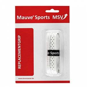 MSV Unisex's Basic Soft-Stich perforated and stitched Weib Replacement Grip-White, One Size, Onesize