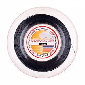 MSV Unisex's Focus-Hex Plus String Reel-Black, 1.15 mm
