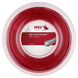 MSV Unisex's Focus-Hex String Reel-Red, 1.23 mm