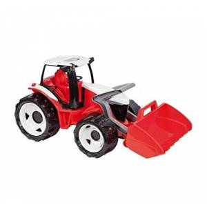 Lena Tractor with Front Loader (Large, Red/ White)