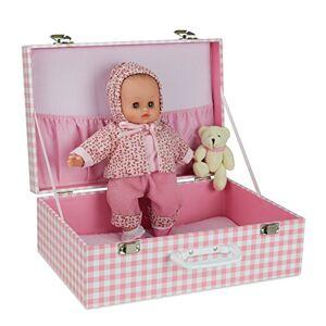 Petitcollin Petitcollin622812 Baby Doll Delia in Suitcase, Multi-Color