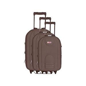Hero Jura Luggage Set, 68 cm, 129 L, Brown