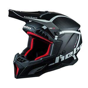 Hebo MX Legend Carbon Hard Helmet, Adult Unisex, Black, XL