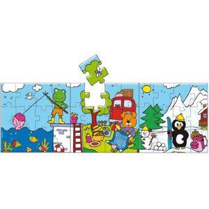 Vilac 15 x 15 cm Holidays Wood Puzzles (3-Piece)