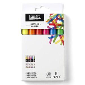 LIQUITEX Professional 4690006 Paint Marker Set Fine Fluorescent Colours 6
