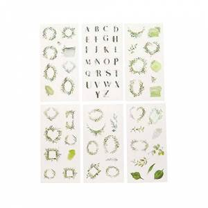 Haodou 6 Sheets Garland Leaves Stickers Cartoon Transparent Diary Album DIY Stickers Notebook Calendar Label Decoration for Bullet Journal Scrapbooking (Garland)