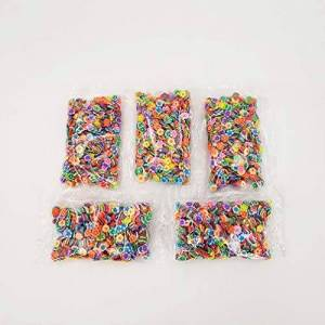 Leoboone 1000pcs/Set Assorted Slime Slices DIY Crafts Decorations Fruit Slices Slime Making Supplies for Soft Clay & Nail Art