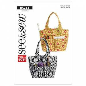 Butterick Patterns B5741 Tote, Pack of 1, White