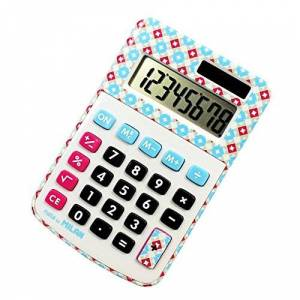 A.C. Milan Blister calculadora 8 dgitos Colores