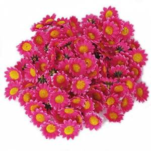 AKORD 100pc Artificial Daisies, Rose, 38mm