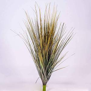 "artplants.de artplants Artificial Grass bush on stick, green, 28"" / 70cm - Artificial grass plant"