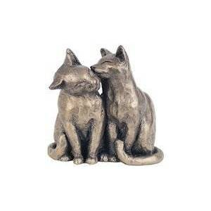 primrose.co.uk YUM YUM & FRIEND Bronzed Cats Sculpture by Paul Jenkins by Frith Sculpture - Naturally. Cats Sculpture.