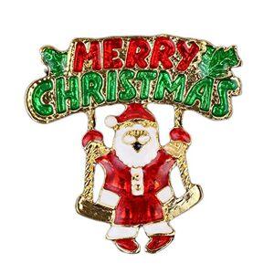 iTemer Cartoon Brooches Happy Christmas Santa Claus Enamel Brooch Pin Badge Brooch Girls Women Bags Scarves Shawl Clip
