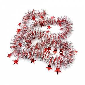 Stekima Merry Christmas Decorations Sale,Traditional Christmas Tinsel Garland Tree Hanging Ornament Gifts for Kids for Christmas Party Decoration Window Holiday Festival Wedding Home Decor