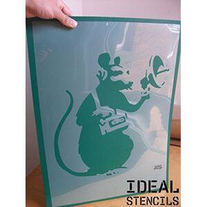 Ideal Stencils Banksy Radar Rat Stencil wall art craft painting (X SMALL - 4.5 x 4.9 inches)