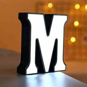 3D Letter Lights Alphabet Light Up Personailised Initials Captial LED Standing Battery Operated for Table Birthaday Party Event Anniversary Kid Bedroom Room Garden Christmas Lights WATOPI