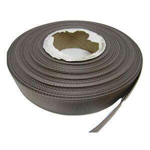 2 metres of 15mm Satin Ribbon dark grey dark silver Double sided 15 mm 1.5cm