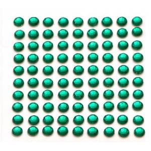 200 x Green Self Adhesive Diamante Stick On Rhinestone Gems 5mm