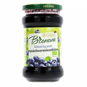 Bionova Organic Bilberry Jam 340 g (Pack of 6)