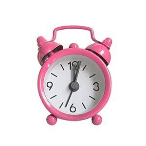 Creative Labs Wokee Electronic Alarm Clock Creative Cute Mini Metal Small Alarm Clock New Electronic Small Alarm Clock Special Present (Pink)