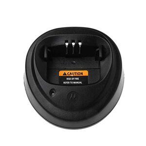 JUNESUN Base Charger for Motorola CP040 CP140 CP150 CP160 CP180 CP200 CP200XLS EP450 GP3188 GP3688 PR400 Walkie Talkie Radio Accessories