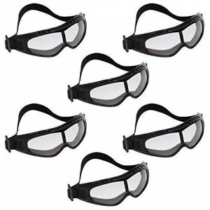 Safety Glasses (6 pieces) - Protective Glasses with Padded Design for Comfort - Safety Goggles for Eye Protection with Clear Lenses - Eyewear Eyeglasses