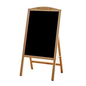 Solid Wood Message Board LED Integrated Display Frame Luminous Word Door Billboards Slim Light Box Signboard Electronic Fluorescent Board Hand Writing Blackboard