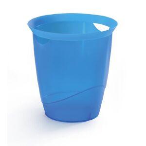 Durable Trend Waste Bin Plastic 16 Litre - Translucent Blue Ref 1701710540