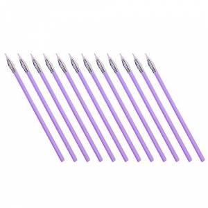 Scrox. 12Pcs Color Gel Ink Pen Refills Diamond Head Fine Point Rollerball Writing Pen Refills for Adult Colouring Books Drawing Craft(Purple)