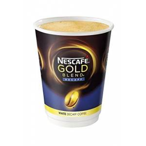 NESCAFÉ &GO Gold Blend White Decaff Instant Coffee Cups, 5 Sleeves of 8 (Total 40 Cups)