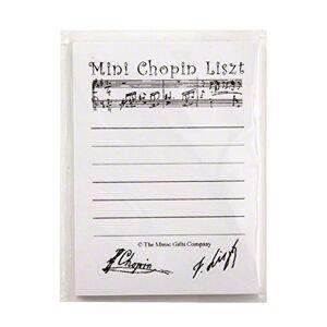 Music Gifts Mini Chopin Liszt White Sticky Notes
