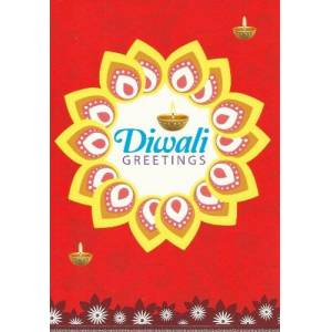 Gifts and More Gifts Premium Diwali Greeting Cards (Pack of 6) With Peacock Design