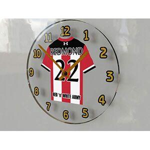 MyShirt123 SOUTHAMPTON FC FOOTBALL CLUB WALL CLOCK - ANY NAME & NUMBER, YOU CHOOSE - BRAND NEW ACRYLIC SHIRT DESIGN