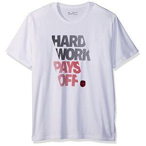 Under Armour Bball Hard Work Men's Short-Sleeve Shirt, White / Black / Red (100), Large