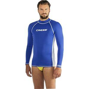 Cressi Men's Lycra Skin Long Sleeve Rash Guard UV Sun Protection (UPF) 50+, Blue, XL/5 (46/48)