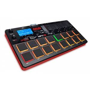Akai Professional MPX16   Portable Finger Drumming Sample Pad Controller with 16 Performance-Ready Pads, On-Board Recording, Built in FX & SD Card Slot