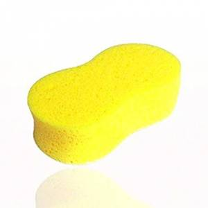 Gugutogo Wear-resistant Tear-off High-density Large Size 8 Words Car Wash Sponge Yellow Exquisitely Designed Durable