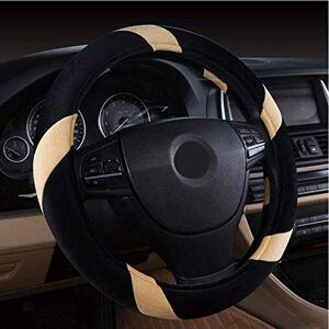 SGJKG Car Steering Wheel Cover 38cm Winter Warm Non-slip Universal Auto Steering Accessories Wheel Covers Car Styling Beige