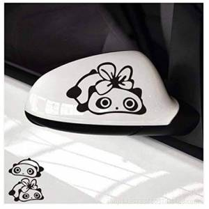 Zyunran Car sticker Merchandise Decals & Stickers Sticker - Panda Sticker Funny Rear View Mirror Panda Pair - Red Need size contact me
