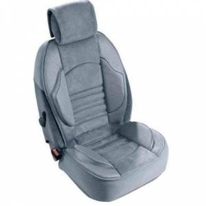 AD-TAPIS-AUTO Grand Confort Front Seat Cover for Accord IV Coupe (1992/01-1993/09), 1 Piece, Grey