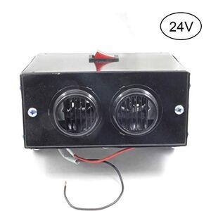 HOPQ Tungsten Car Heater Hole 2 Air Outlet Defogger Heater Window Fog Remover(24V or 12V)