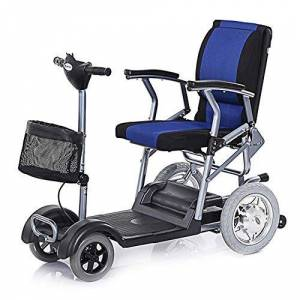 Lsmaa Lightweight Electric Wheelchair Elderly Single Disabled Four-wheeled Off-road Scooter Old Power Electric Car lsmaa