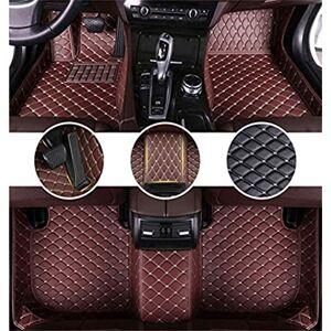 JPLJL Floor Mats Custom Car Floor Mat Compatible With P eugeot RCZ 2011-2014 All-weather car mats waterproof non-slip,coffee