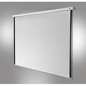 """celexon manually extendable home cinema and business projector screen 4K and full HD manual screen economy - 240 x 240 cm - 134"""" - 1:1 - Gain 1.0"""